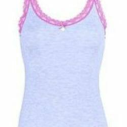 NIna von C top modal blauw roze