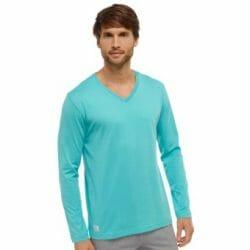 Schiesser-pyjamashirt-groen-Finezze-Lingerie